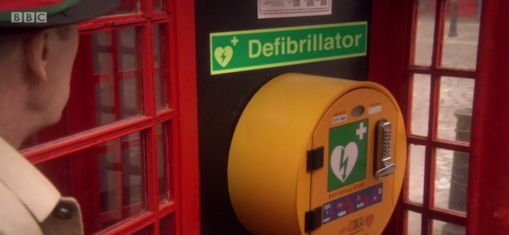 Lifeline Defibrillator phone box