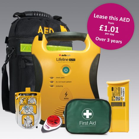 Portable AED Defibrillator Package