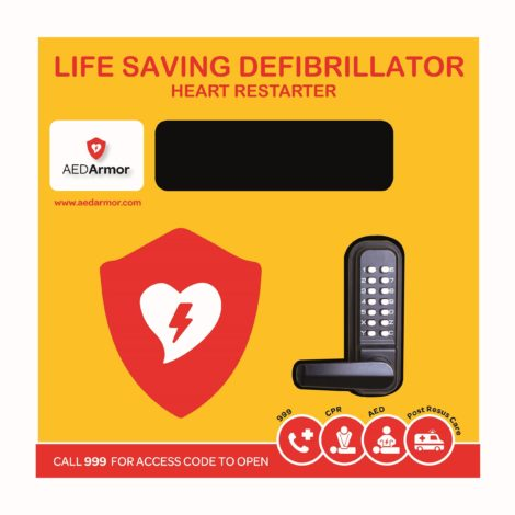 Stainless Steel Outdoor Locked Defibrillator Cabinet with heating