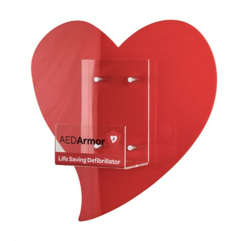 AED Armor Perspex Heart Wall Bracket