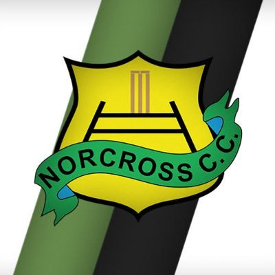 a logo of Norcross C. C. with a white and army green background